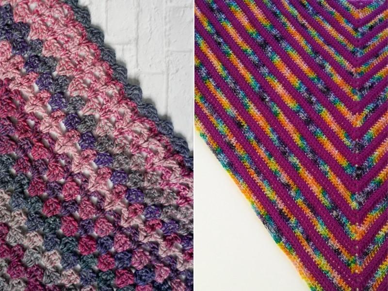 Deeply Pink Shawls Free Crochet Patterns