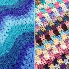 Delightful Textured Blankets Free Crochet Patterns