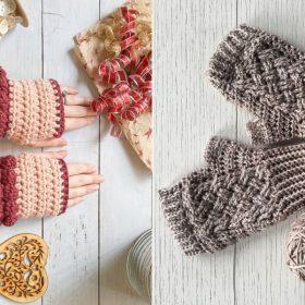 Fab Fingerless Gloves Free Crochet Patterns-feature