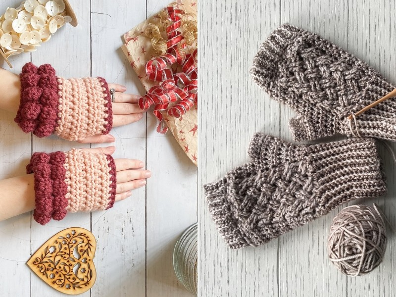 Fab Fingerless Gloves Free Crochet Patterns-feature