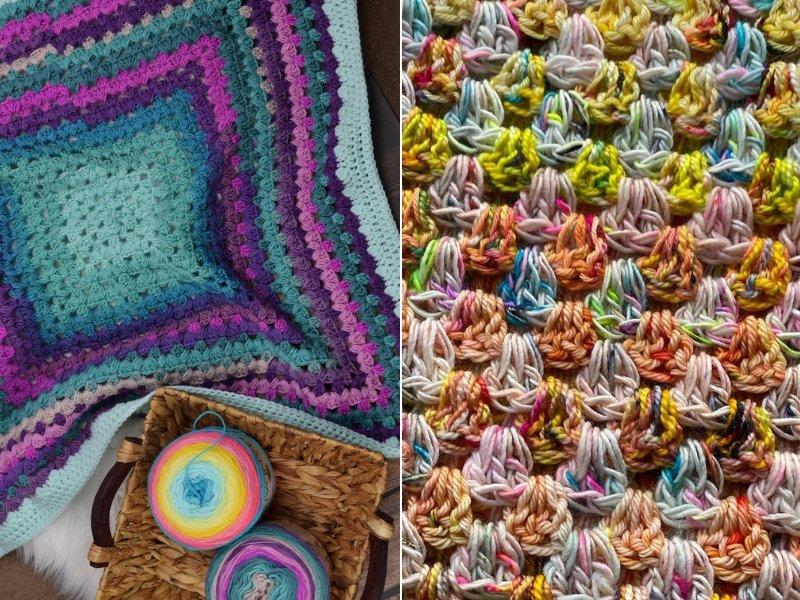 Multicolor Blankets Free Crochet Patterns