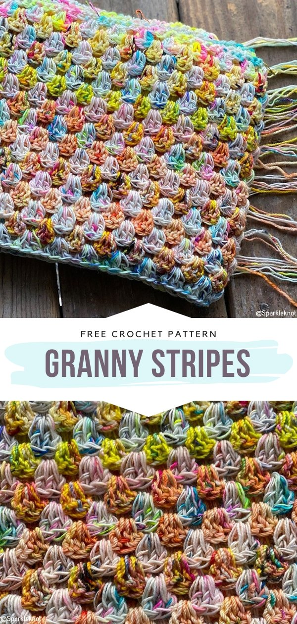 Granny Stripes Free Crochet Pattern