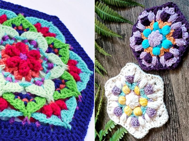 Hexagon Flowers Free Crochet Pattern
