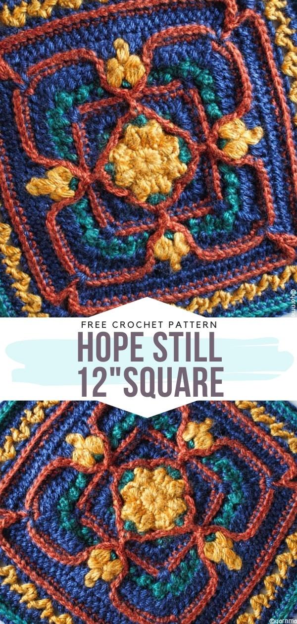 Hope Still 12 Square Free Crochet Pattern