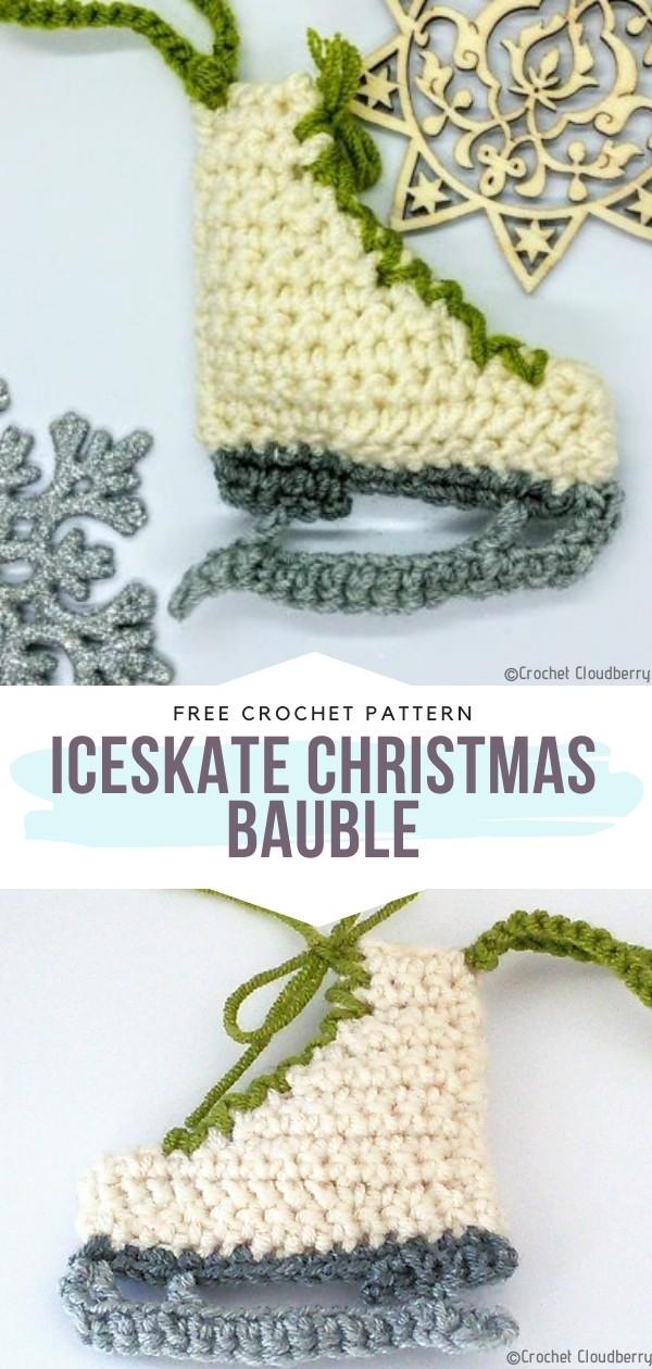 Iceskate Christmas Bauble