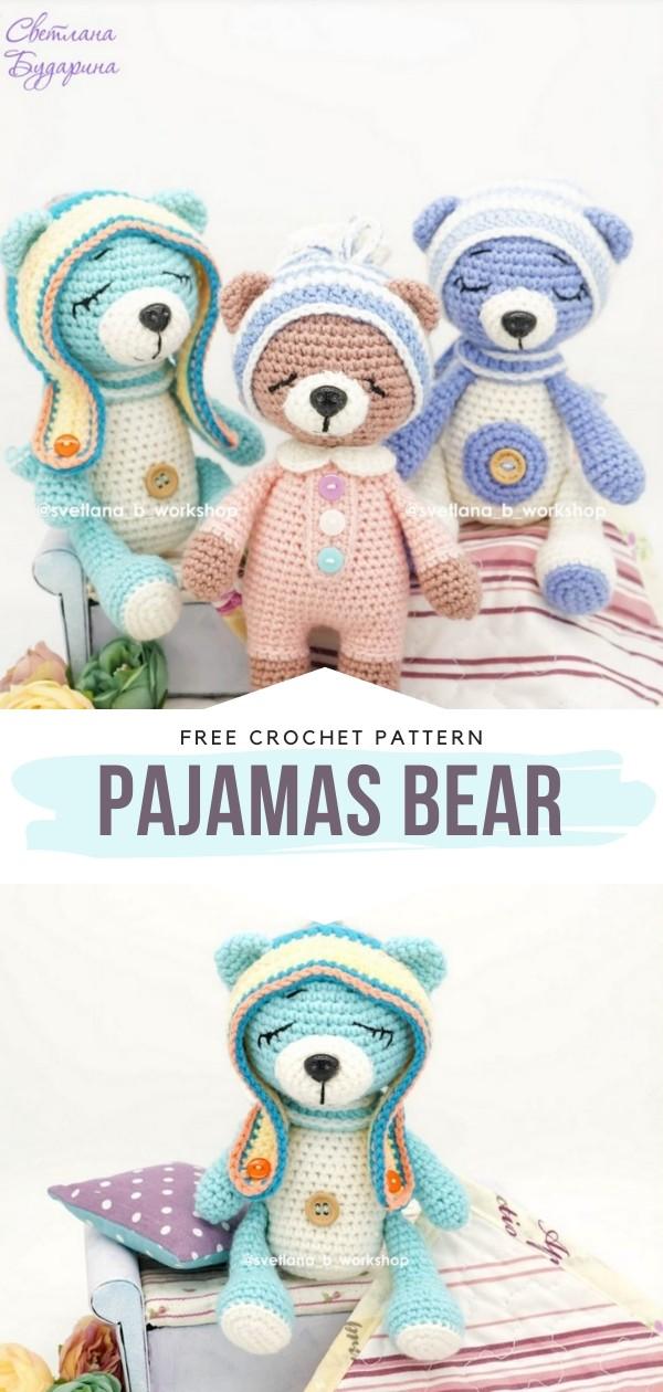 Pajamas Bear Free Crochet Pattern