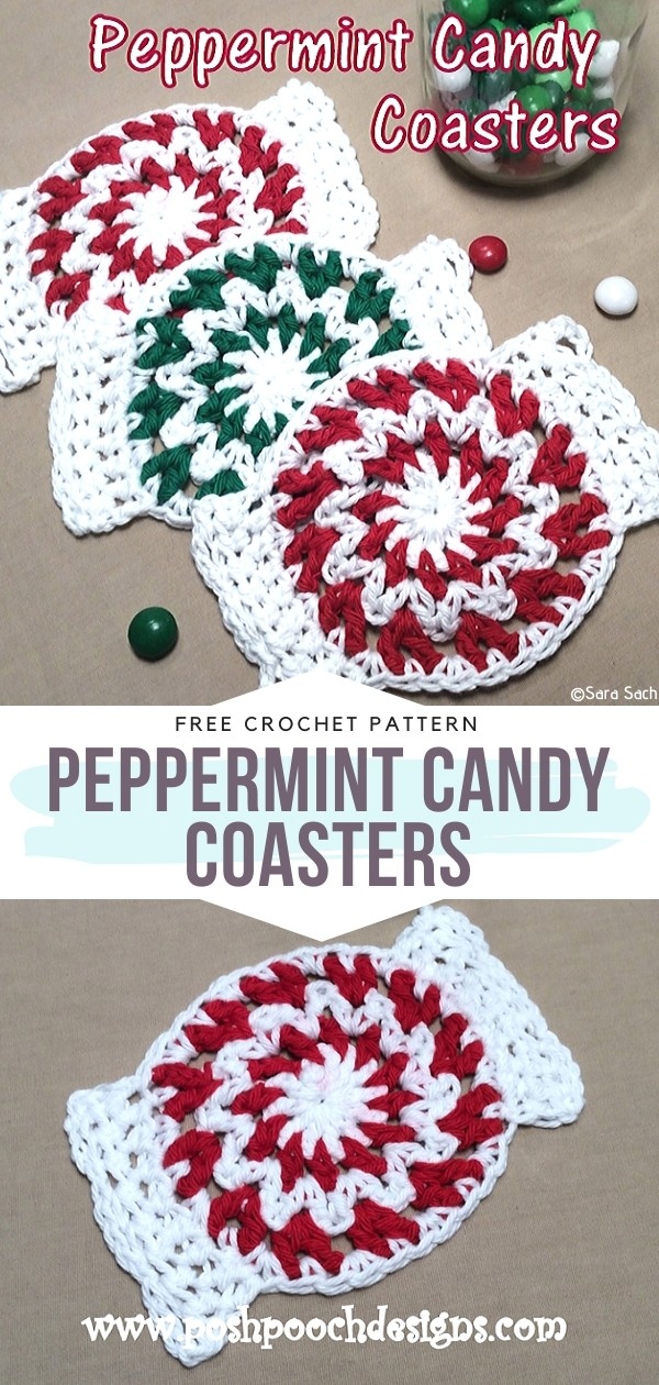 Peppermint Candy Coasters
