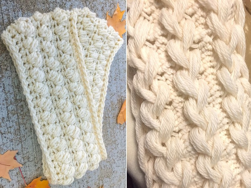 Perfect Creamy Scarves Free Crochet Patterns