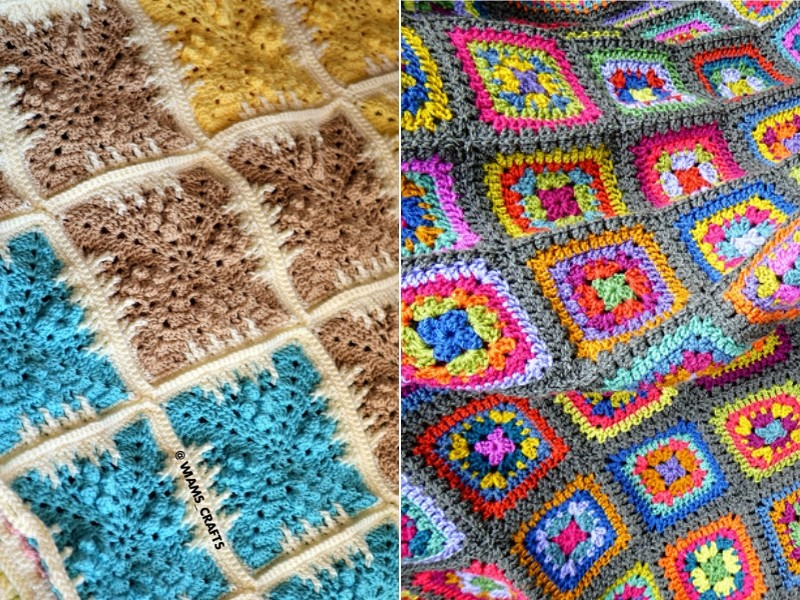 Pretty Squares Blankets Free Crochet Patterns