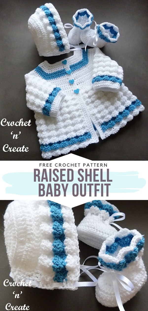 Raised Shell Baby Outfit