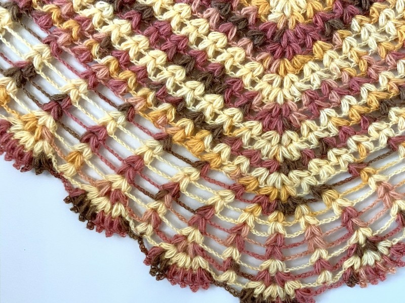 Retro Vibes Shawls Free Crochet Patterns