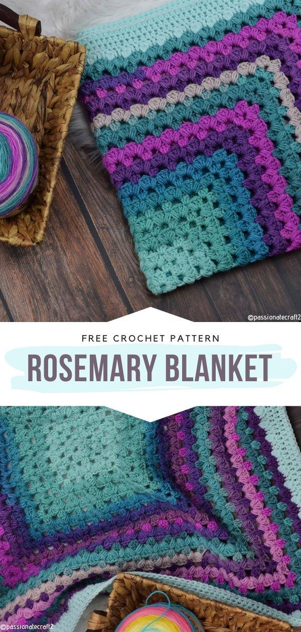 Rosemary blanket Free Crochet Pattern