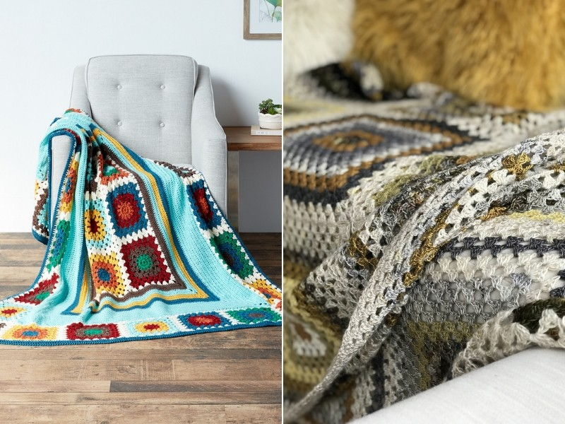 Spectacular Granny Throws Free Crochet Patterns