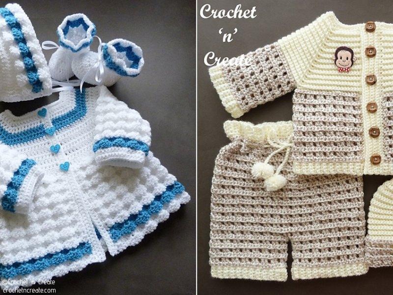 Stylish Baby Sets Free Crochet Patterns