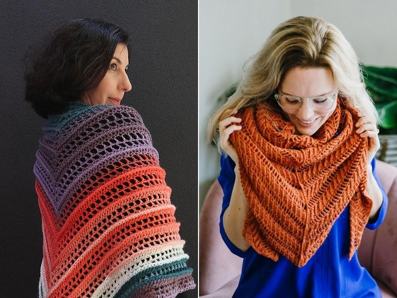 Sunset Shawls Free Crochet Patterns