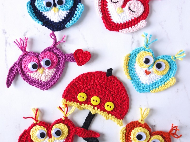 Fun Owls Ornaments Free Crochet Pattern