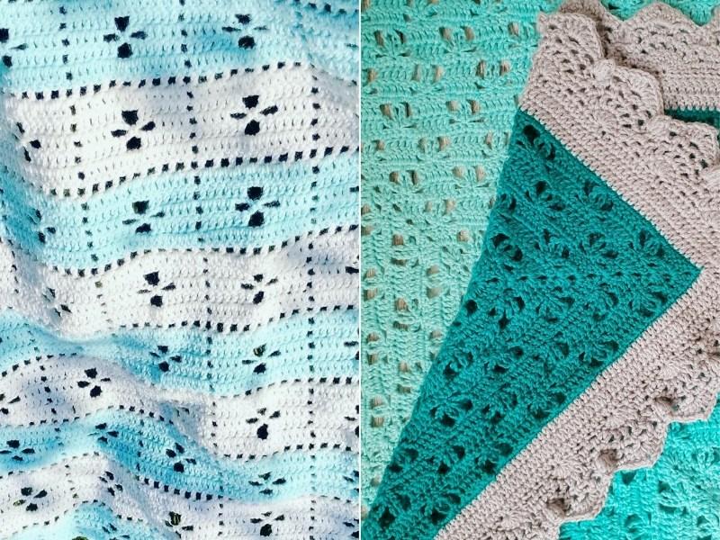 Aquamarine Baby Blankets Free Crochet Patterns