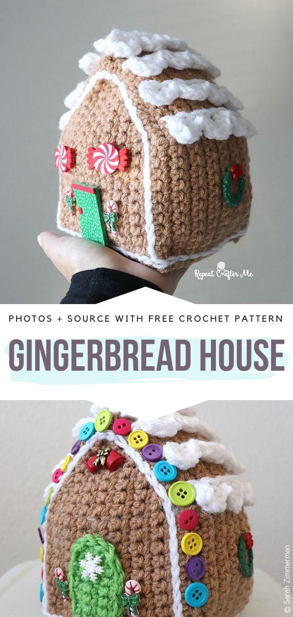 Free Crochet Pattern Gingerbread House