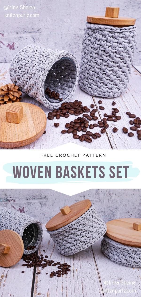 Crochet Baskets Set