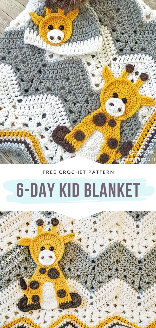 6-Day Kid Crochet Baby Blanket