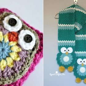 Owl Winter Accessories with Free Crochet Patterns