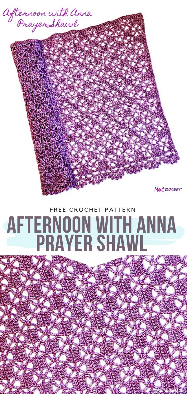 Afternoon with Anna Prayer Shawl Free Crochet Pattern