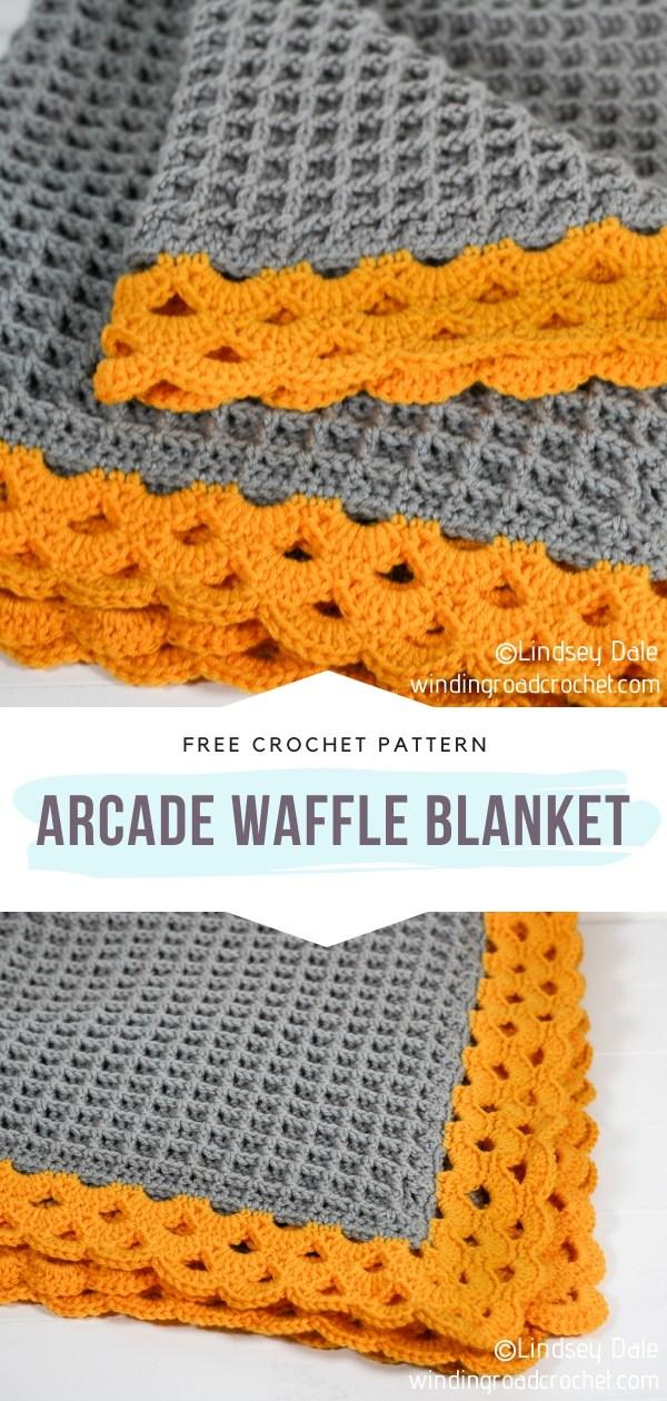 Arcade Waffle Stitch Crochet Blanket