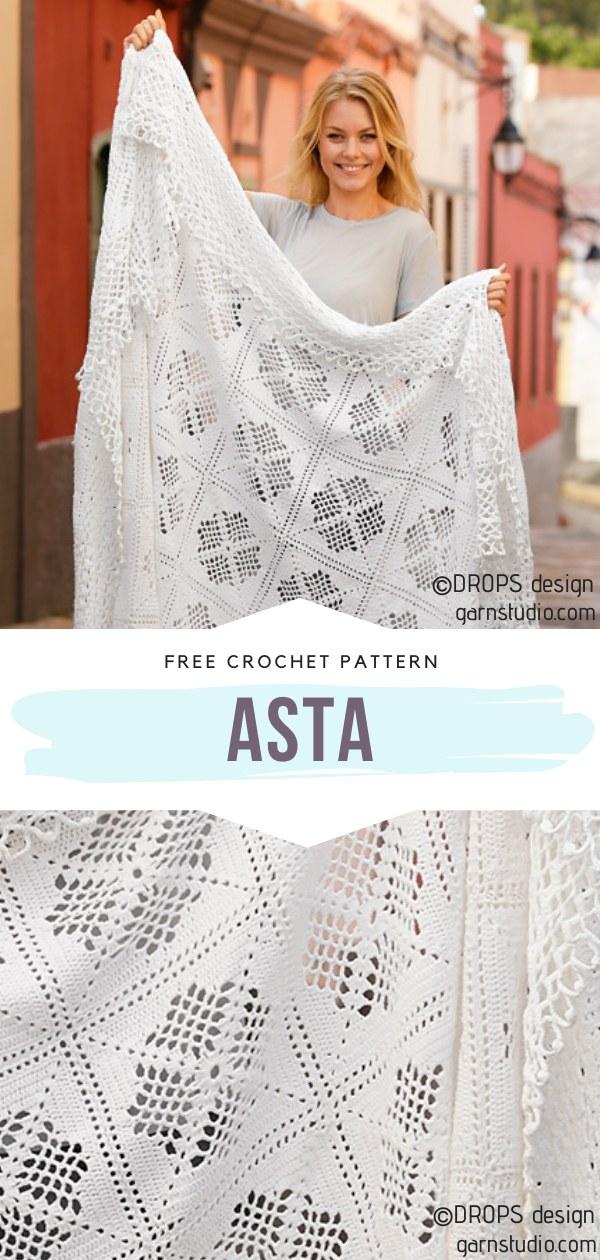 Asta Lacy Crochet Blanket
