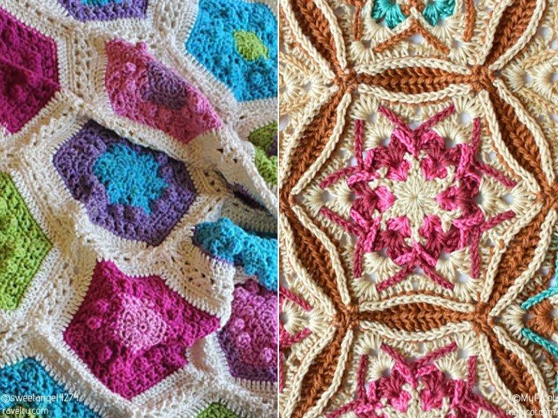 Beautiful Crochet Hexagons Free Patterns