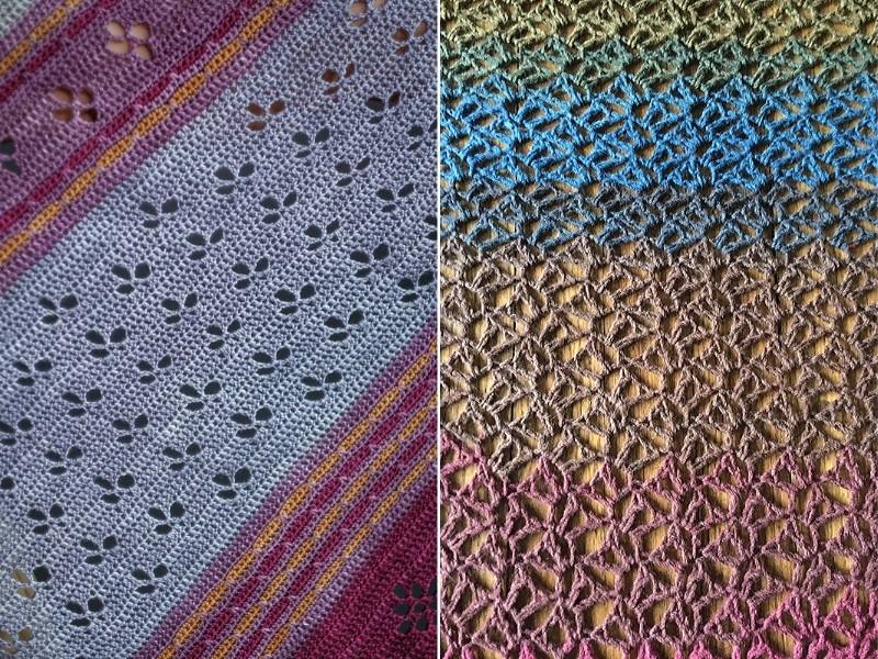 Blooming Openwork Shawls Free Crochet Patterns