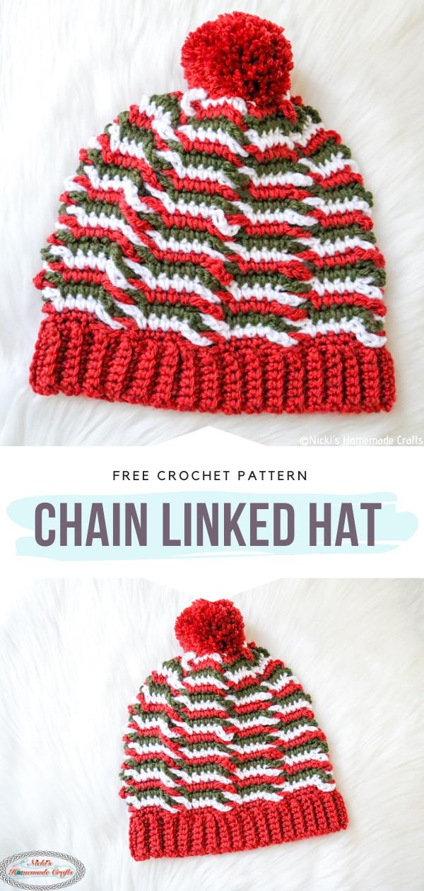 Chain Linked Hat Free Crochet Pattern