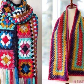 Crazy Granny Scarves Free Crochet Pattern