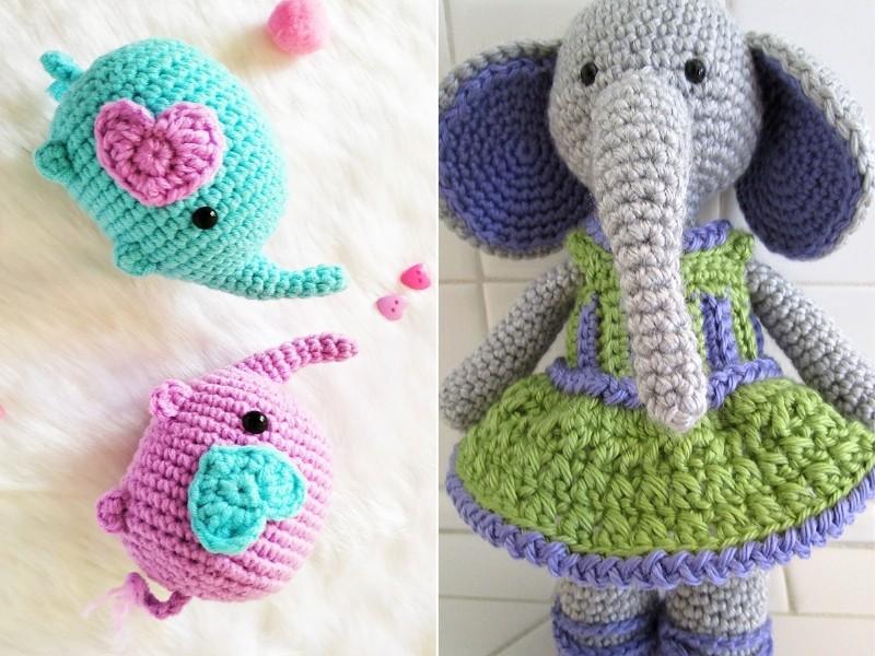 Sweet Elephants Free Crochet Patterns