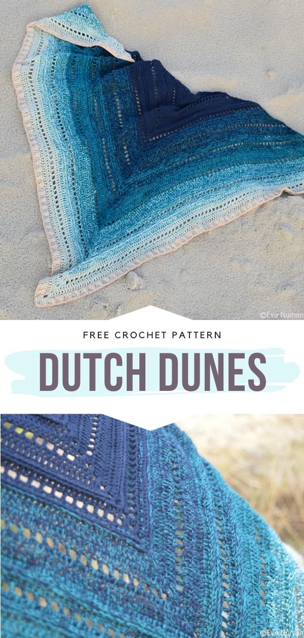 Blue Crochet Shawl