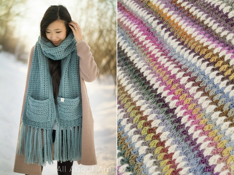 Easy-Peasy Scarves Free Crochet Patterns