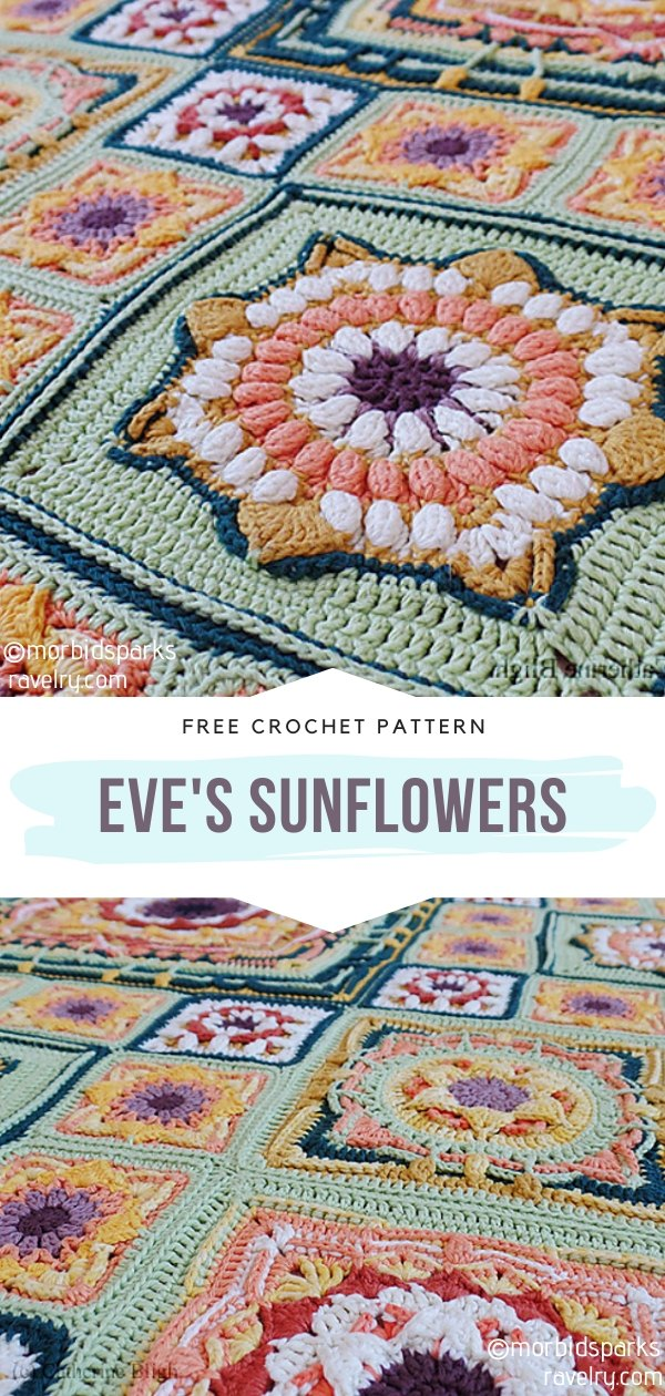 Eve's Sunflowers Square Blanket