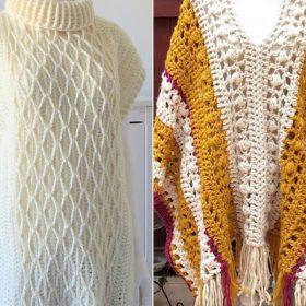 Fantastic Ponchos Free Crochet Patterns