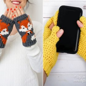Cute and Cosy Mitts Free Crochet Patterns