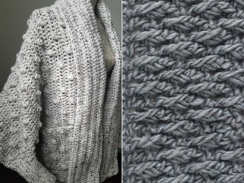 Grey Texture Cardigans Free Crochet Patterns