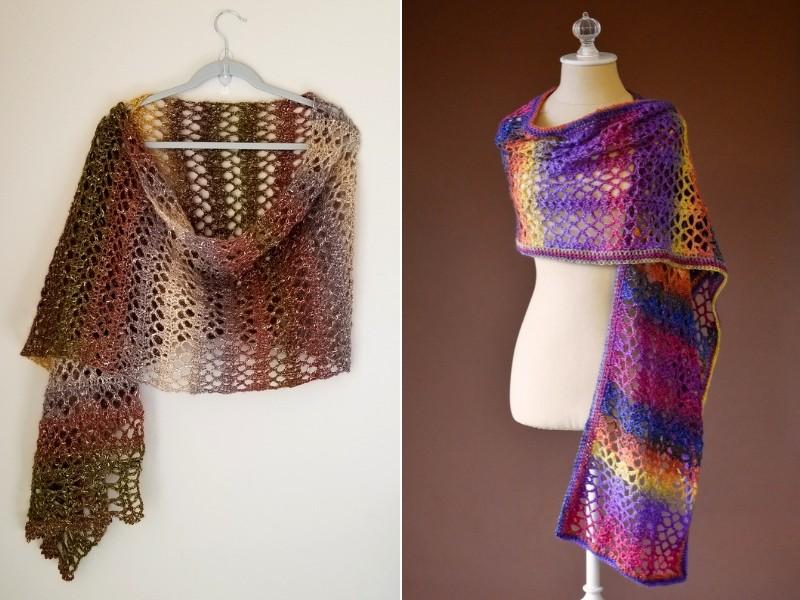 Openwork Artistry Shawls Free Crochet Patterns