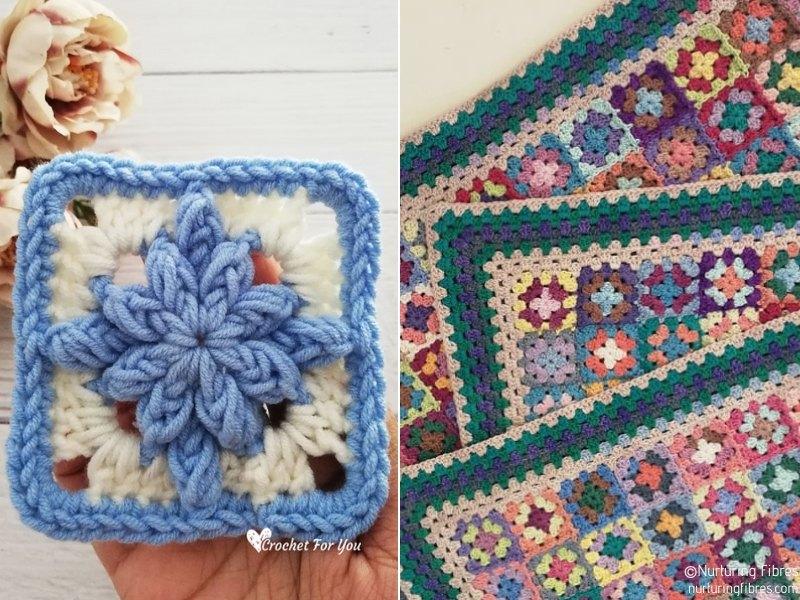 Pretty Little Squares Free Crochet Patterns