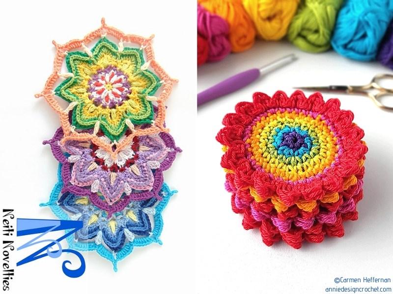 Crochet Rainbow Mandalas
