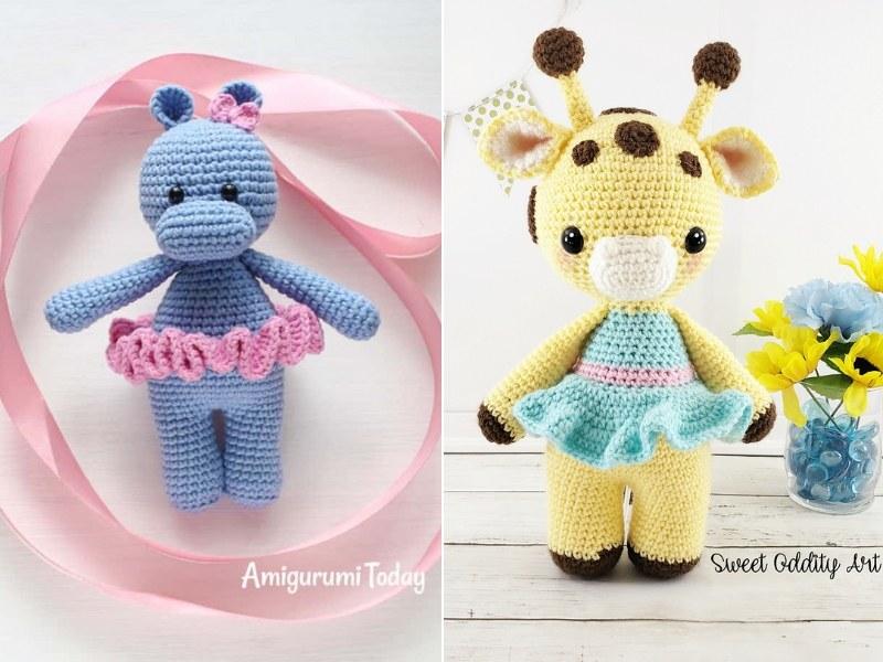 Safari Ladies Amigurumi Free Crochet Patterns