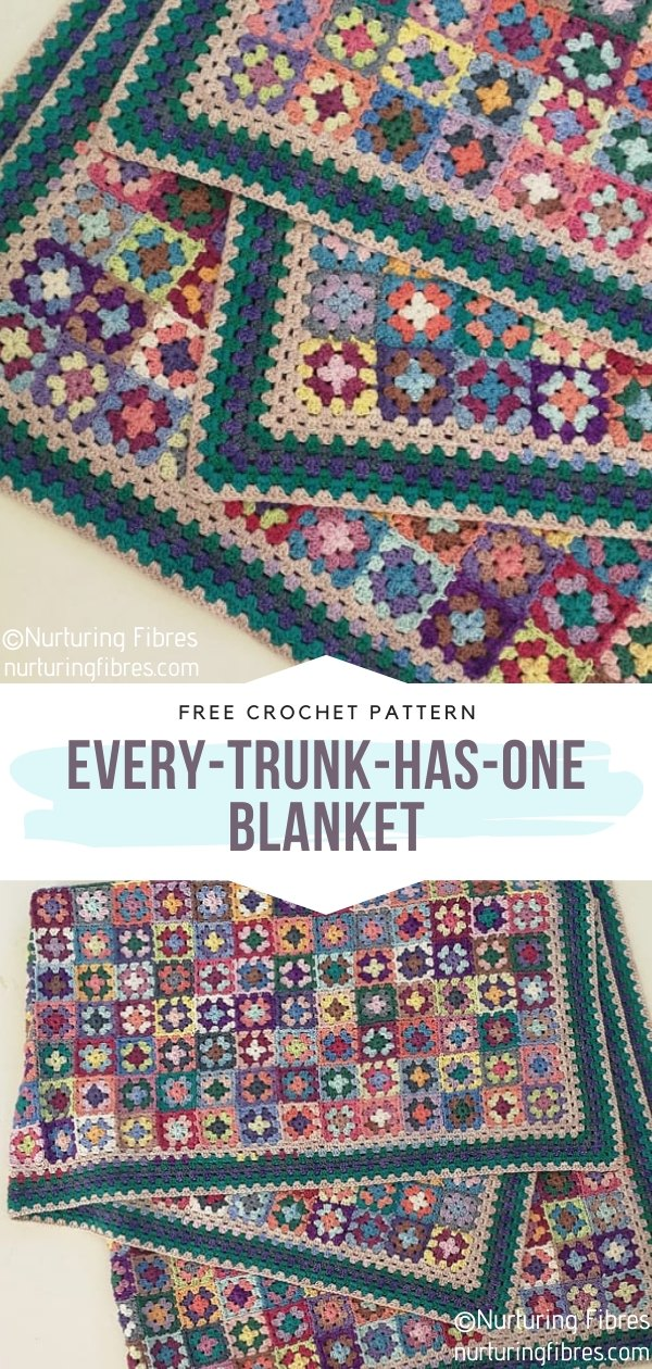 The every-trunk-has-one Square Crochet Blanket