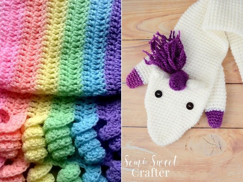 Unicorn Inspired Scarves Free Crochet Patterns