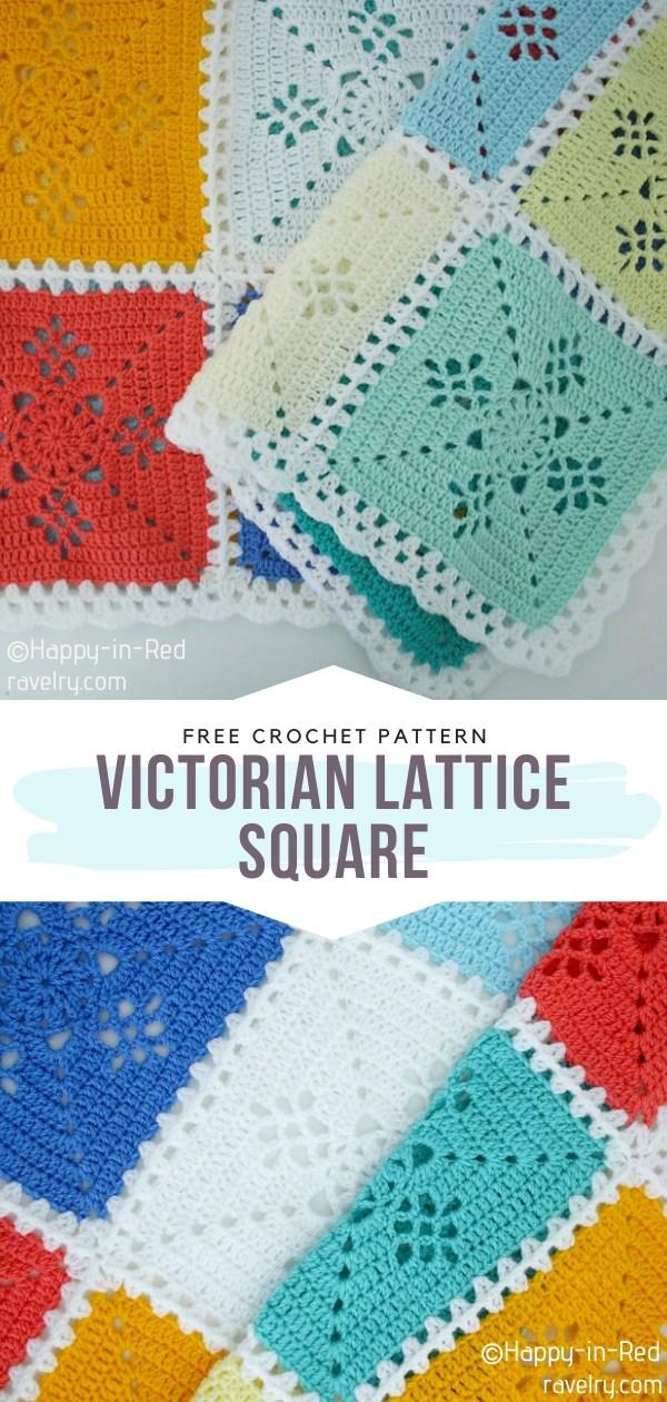 Victorian Lattice Crochet Square