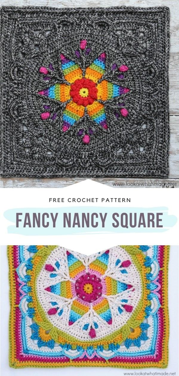 Floral Crochet Square