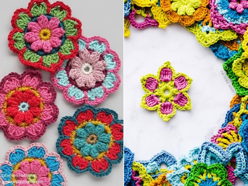 Charming Crochet Flowers - Ideas and Free Patterns