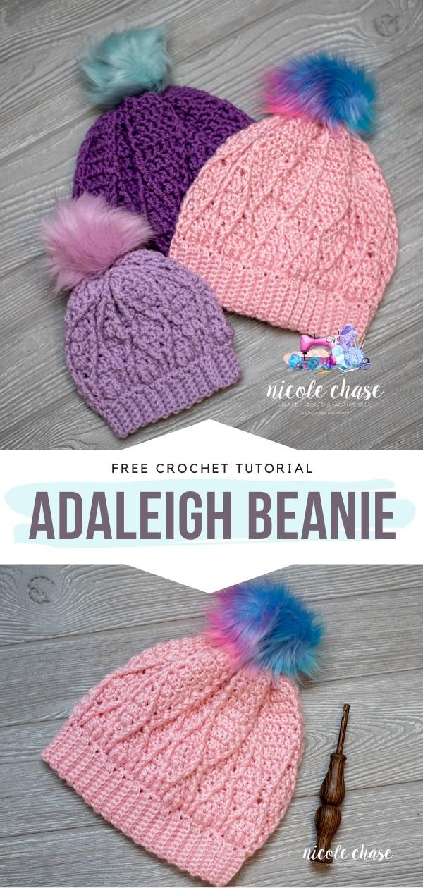Adaleigh Beanie Free Crochet Pattern