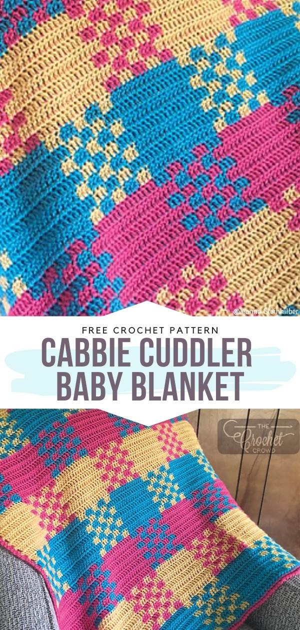 Cabbie Cuddler Baby Blanket Free Crochet Pattern